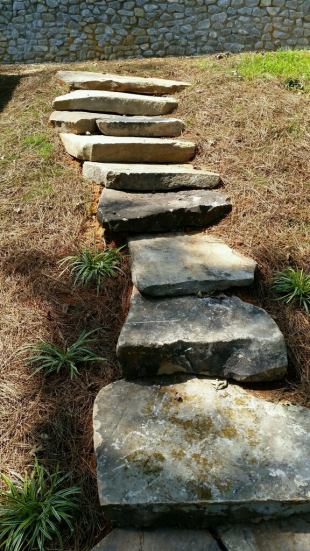 Stone steps by Gonzalez Landscaping and Home Improvement